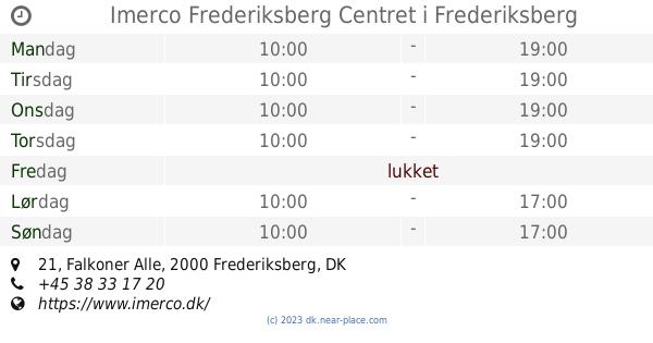 653b82a14f19 ... Imerco Frederiksberg Centret Frederiksberg åbningstider