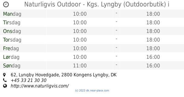 ef109bbd725 🕗 Naturligvis Outdoor - Kgs. Lyngby (Outdoorbutik) Kongens Lyngby  åbningstider, 62, Lyngby Hovedgade, tel. +45 33 21 30 30